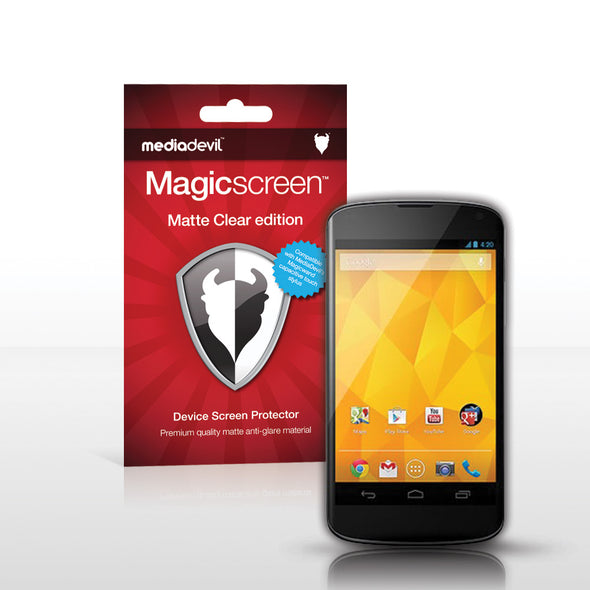 Magicscreen screen protector - Matte Clear (Anti-Glare) Edition - Google Nexus 4 by LG