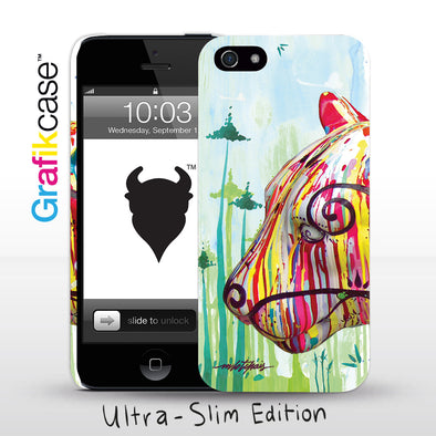 Grafikcase iPhone SE/5/5S case: Feline by Milo Tchais