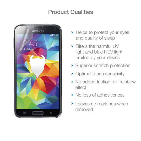 Samsung Galaxy S5 Anti-Blue Light Screen Protector (Eyecare) | Magicscreen