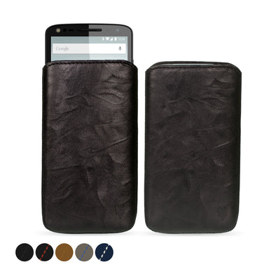 Moto X Force Genuine European Leather Pouch Case | Artisanpouch