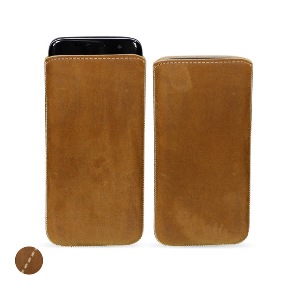 Google Pixel 3a Genuine Leather Pouch Case | Artisanpouch