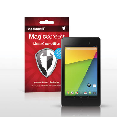 Google Nexus 7 (2nd Gen, 2013) Matte Clear (Anti-Glare) Screen Protector | Magicscreen