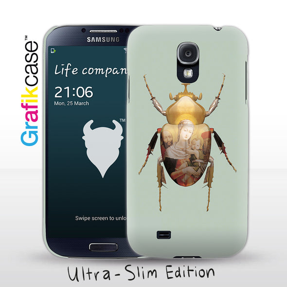 Grafikcase Samsung Galaxy S4 case: Scarab Madonna and Child by Magnus Gjoen
