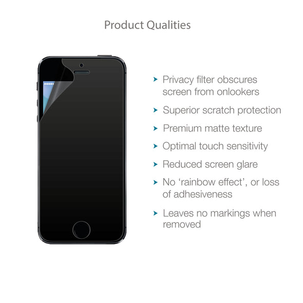 Apple iPhone SE/5/5s/5c Privacy Screen Protector | Magicscreen