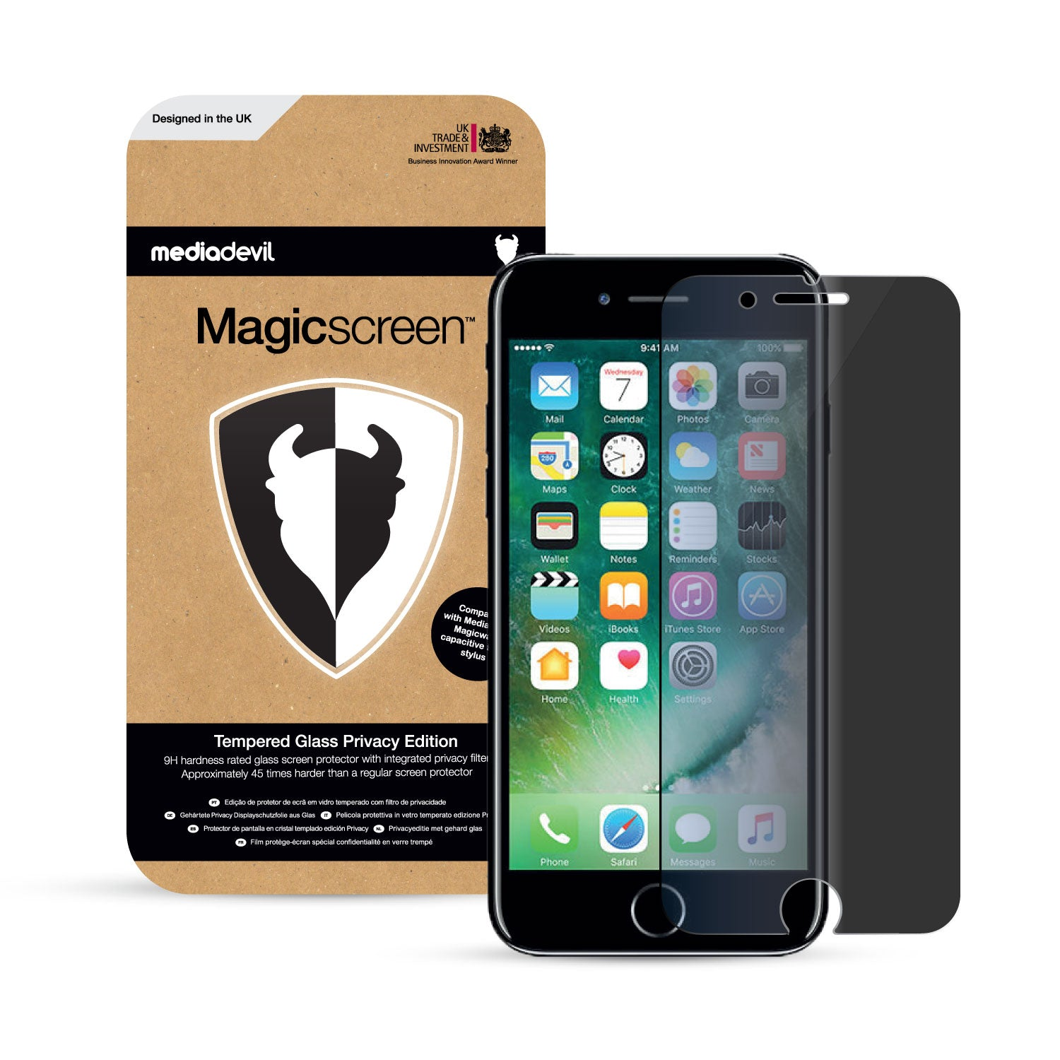 the latest bc019 b6a85 Apple iPhone 7 & iPhone 8 Tempered Glass Privacy Screen Protector |  Magicscreen