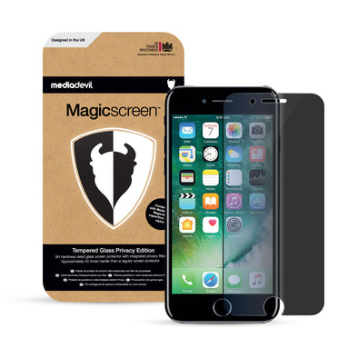 Magicscreen Screen Protector: Tempered Glass Privacy edition - Apple iPhone 7 & iPhone 8 - (1 x Glass Screen Protector)