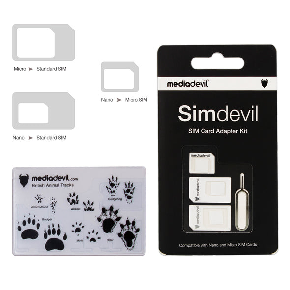 5-in-1 SIM card adapter kit (Nano / Micro / Standard) | Simdevil