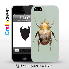Grafikcase iPhone SE/5/5S case: Scarab Madonna and Child by Magnus Gjoen