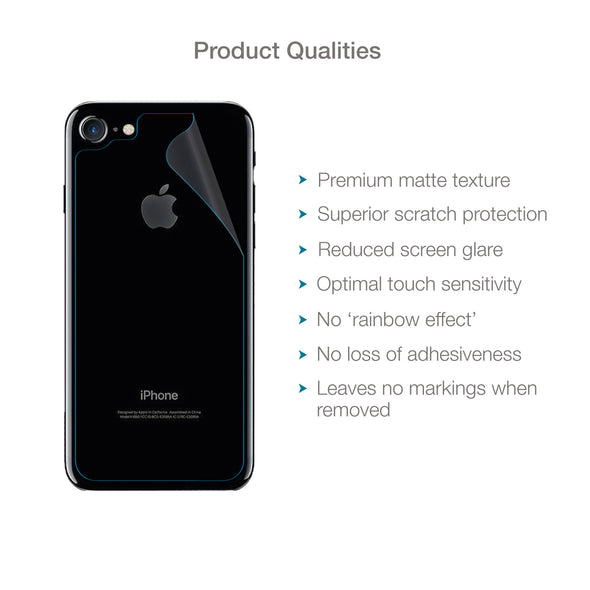 Apple iPhone 7 & iPhone 8 Back (Rear) Screen Protector (Matte Clear) | Magicscreen