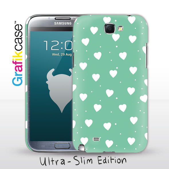 Grafikcase Samsung Galaxy Note II / 2 case: Peppermint Hearts - Glossy