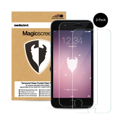 iPhone 6 / 6s (2-Pack) Tempered Glass Screen Protector (Clear) | Magicscreen