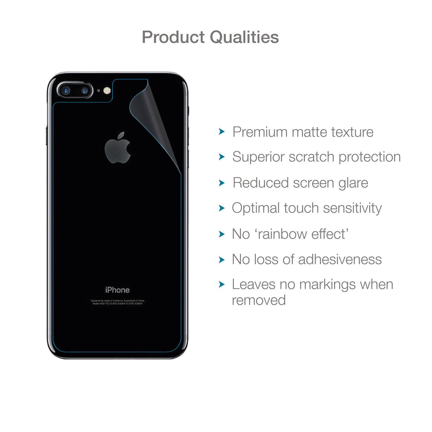 quality design d293b ea26e Apple iPhone 7 Plus & iPhone 8 Plus Back (Rear) Screen Protector (Matte  Clear) | Magicscreen