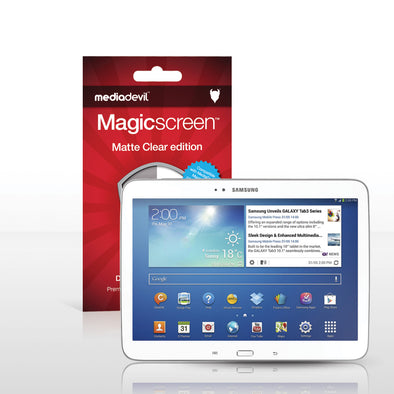 "Samsung Galaxy Tab 3 (10.1"") Matte Clear (Anti-Glare) Screen Protector 
