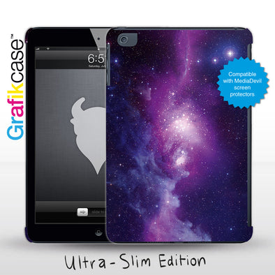 Grafikcase Apple iPad Mini 1/2/3 case: Purple Galaxy - Glossy
