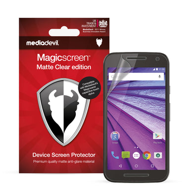 Motorola Moto G (2015) Matte Clear (Anti-Glare) Screen Protector | Magicscreen