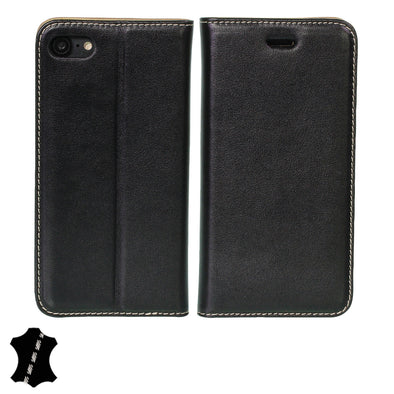 Artisancover (3rd Gen.) genuine European leather case with integrated stand and card holders - Apple iPhone 7 & iPhone 8