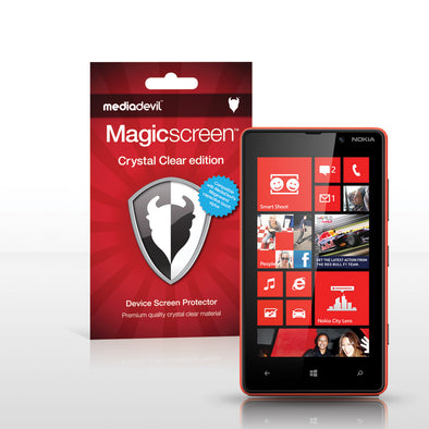 Magicscreen screen protector - Crystal Clear (Invisible) Edition - Nokia Lumia 820