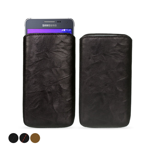Samsung Galaxy A3 (2014) Genuine European Leather Pouch Case | Artisanpouch