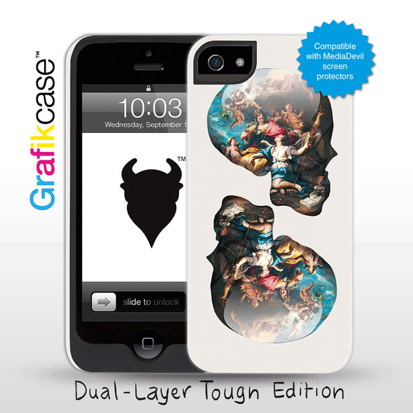 Grafikcase iPhone 5 case: Skull Victory over Ignorance by Magnus Gjoen