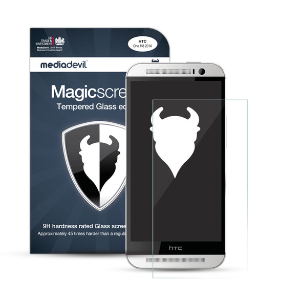 HTC One M8 Tempered Glass Screen Protector (Clear) | Magicscreen