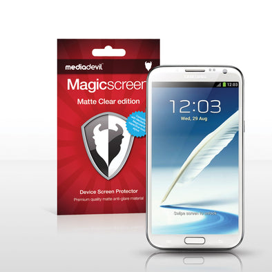 Magicscreen screen protector - Matte Clear (Anti-Glare) Edition - Samsung Galaxy Note II / 2