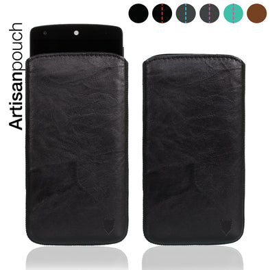 Artisanpouch genuine full-grain European leather pouch case - Google Nexus 5 by LG