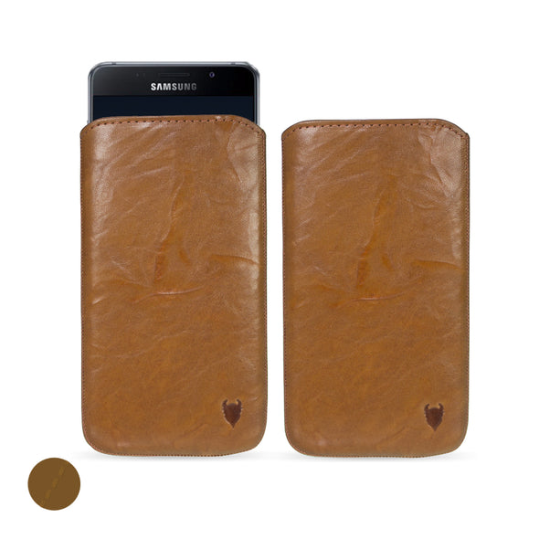 Samsung Galaxy A9 (2016) Genuine European Leather Pouch Case | Artisanpouch
