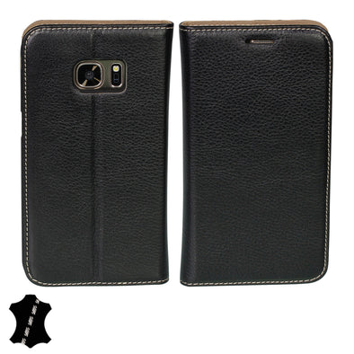 Samsung Galaxy S7 Genuine European Leather Notebook Case with Stand | Artisancover (3rd Gen.)