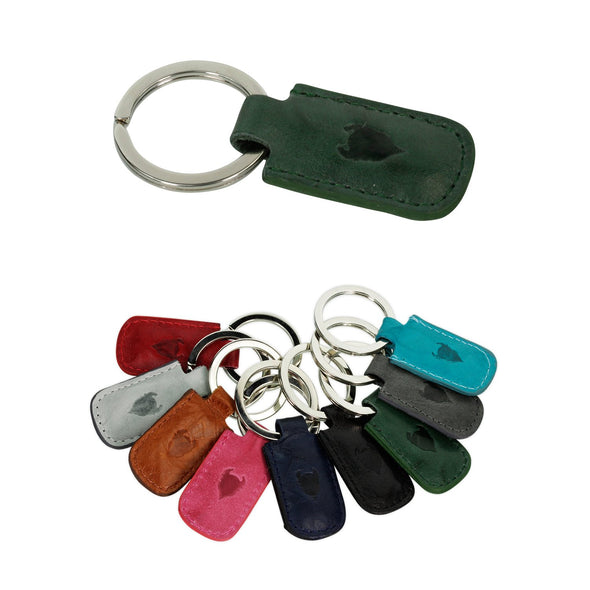 Genuine European Leather Keyring
