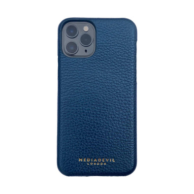 Metallic Blue Slim Leather Case - Apple iPhone 11 Pro