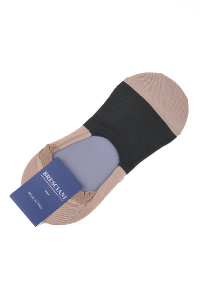 Bresciani Cotton Colour Block Ankle Socks