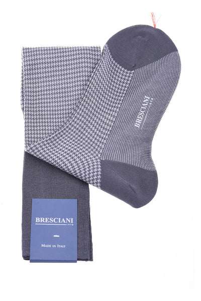 Bresciani Socks in Herringbone Cotton Knee Length