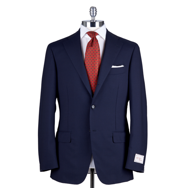 Ring Jacket Suit 184-S179 in Solid Navy Wool