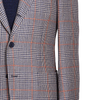 Ring Jacket Sport Jacket 269F in Navy-White-Orange Prince of Wales Check Wool-Linen