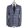 Ring Jacket Sport Jacket 278F in Navy-White Prince of Wales Check Wool-Silk