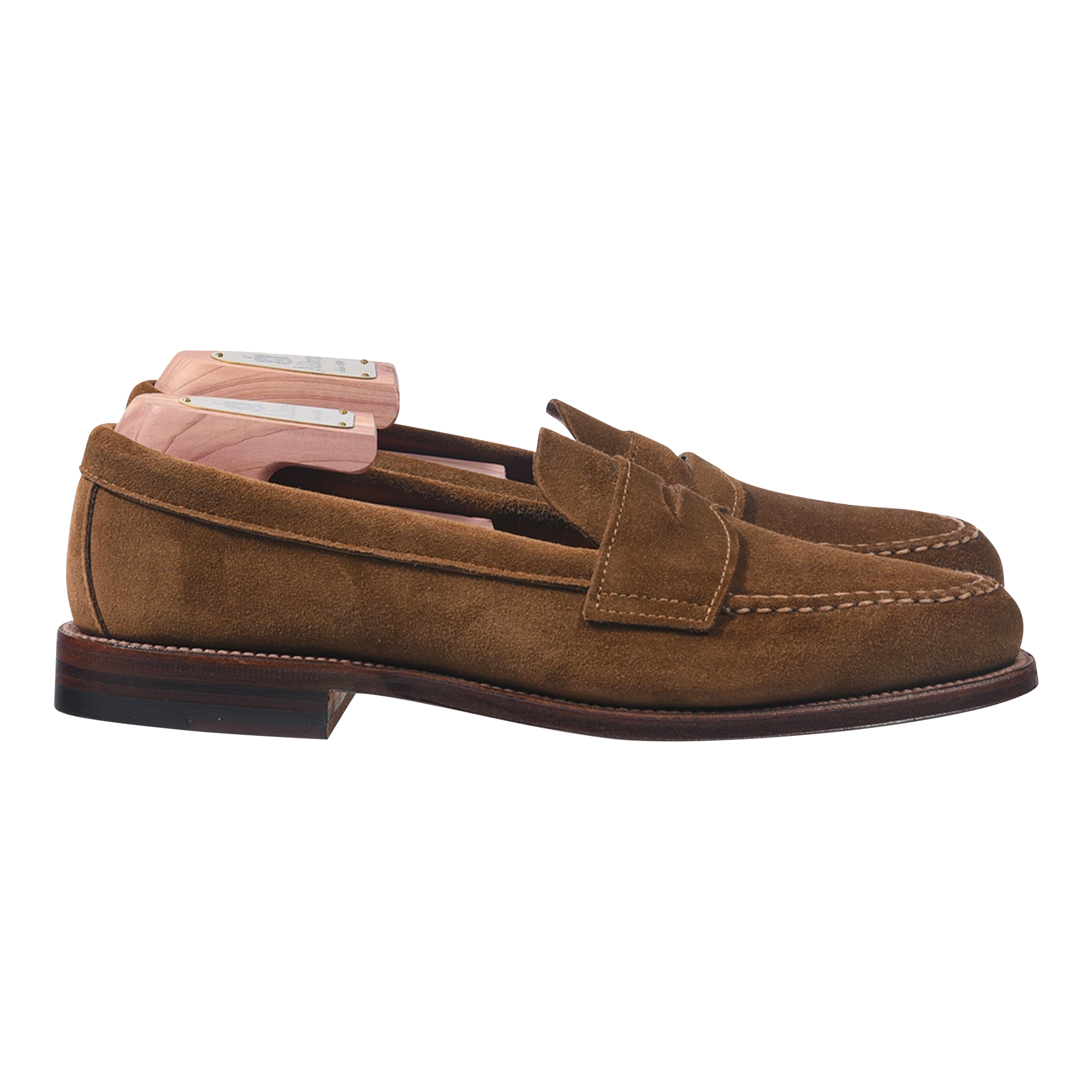 Alden Unlined Penny Loafer in Snuff Suede