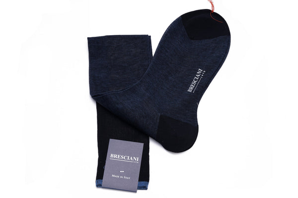 Bresciani Cotton Marled Knee Length Socks