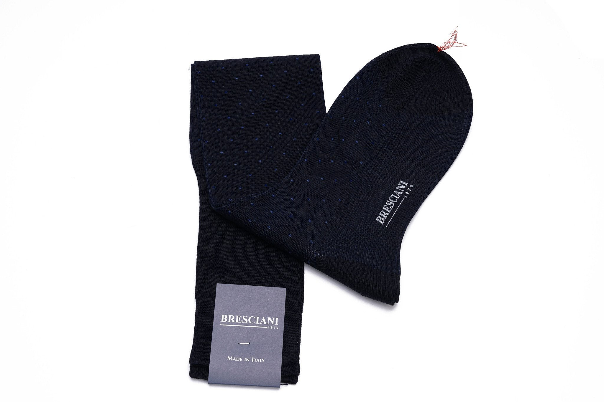 Bresciani Pin-Dot Cotton Knee Length Socks