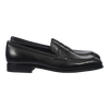 Carmina Penny Loafer in Black Rusticalf