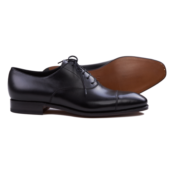 Carmina Cap-Toe Oxford in Black Calf