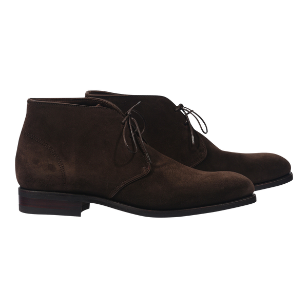 Carmina Chukka Boot in Dark Brown Suede