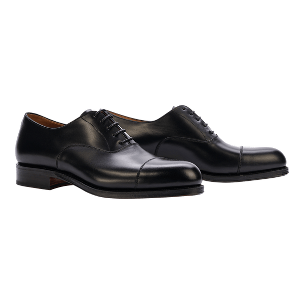 Carmina Cap-Toe Oxford in Black Calf Shoes - Oxfords - Cap-Toe Carmina