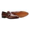 Carmina Cap-Toe Double Monk in Brown Calf