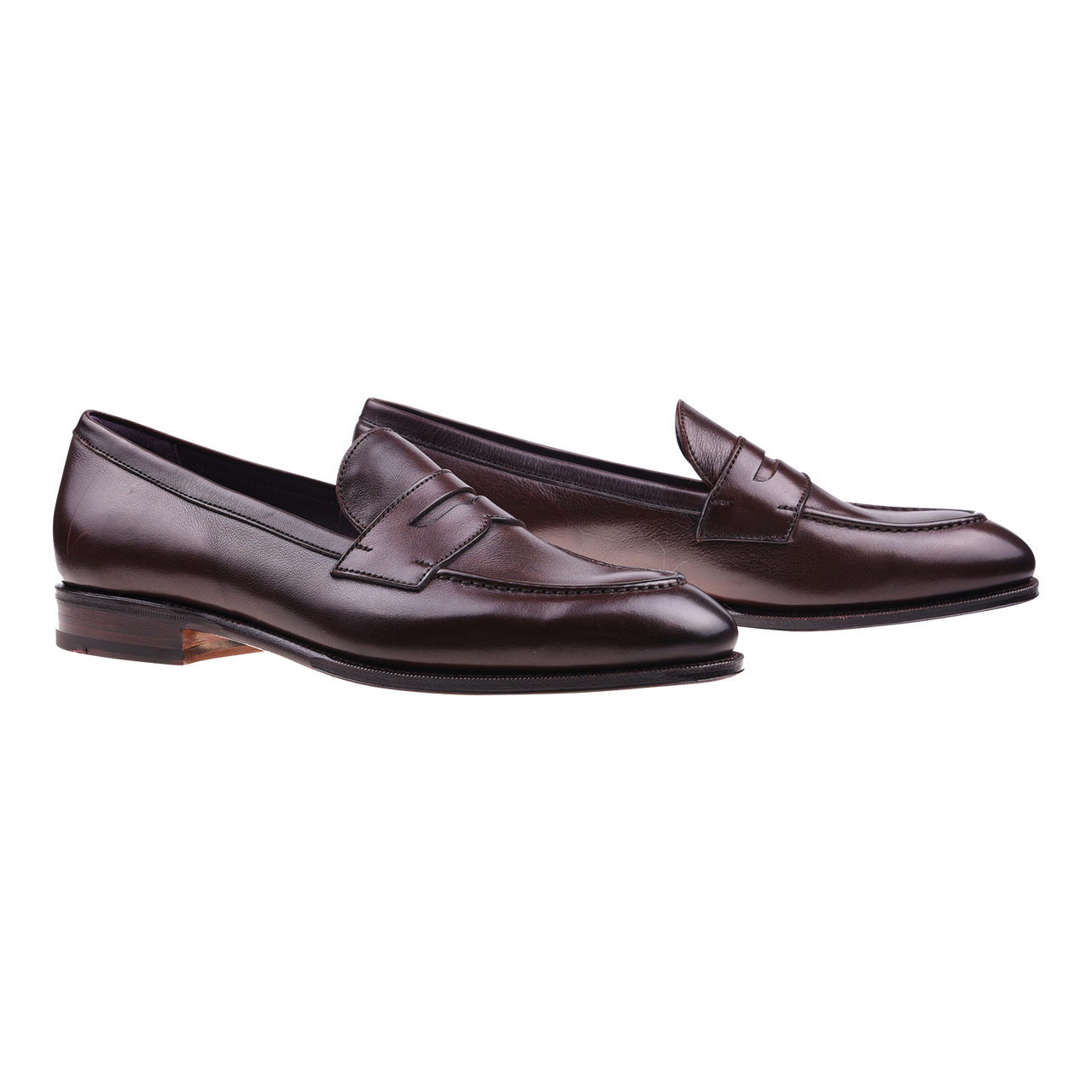 Carmina Penny Loafer in Brown Rusticalf