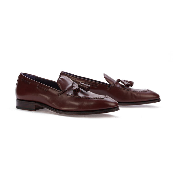 Carmina Tassel Loafer in Burgundy Calf