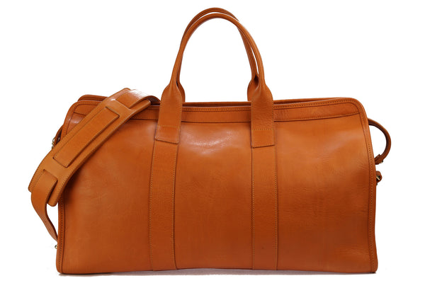 Frank Clegg Signature Travel Duffle Unlined in Tan Tumbled Leather