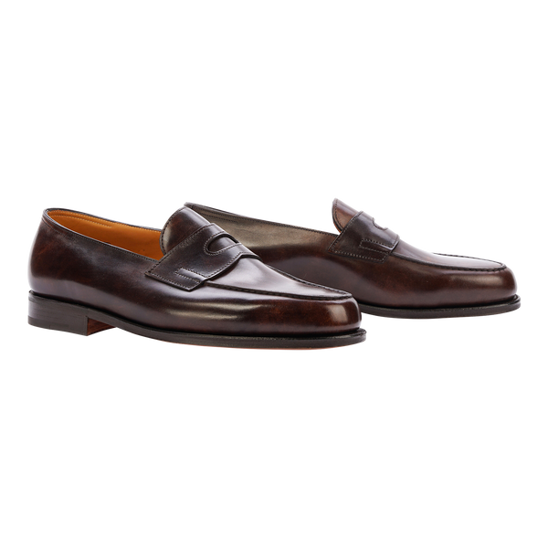 John Lobb Lopez in Dark Brown Museum Calf