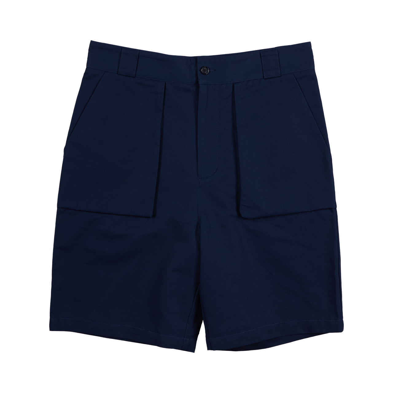 P. Johnson Walking Shorts in French Navy Cotton-Linen