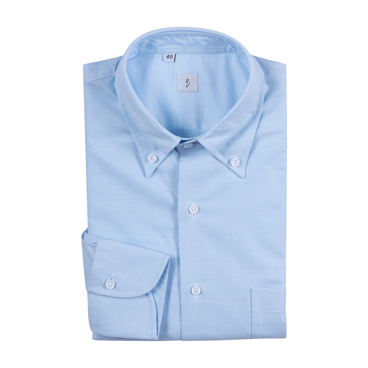 P. Johnson Shirt in Blue Oxford with Button Down Collar