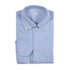 P. Johnson Shirt in Navy Stripe Oxford with One-Piece Button Down Collar